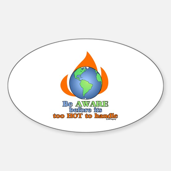 Global Awareness Oval Decal