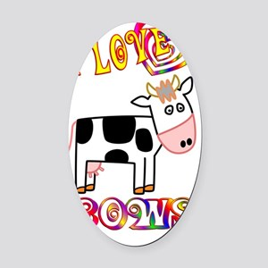 cow Oval Car Magnet