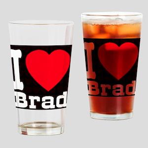 iheart_Brad_black Drinking Glass