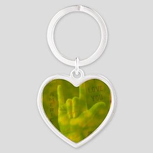 asl_coaster_1 Heart Keychain