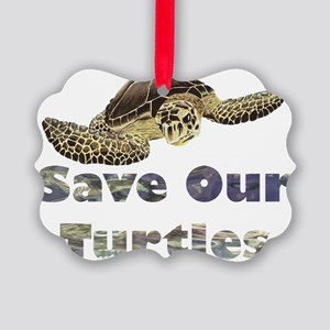 save-our-turtles Picture Ornament
