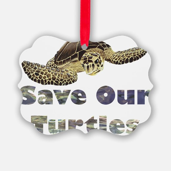 save-our-turtles Ornament