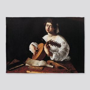 Lute Player 5'x7'Area Rug