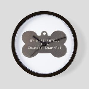 Friend Shar-Pei Wall Clock