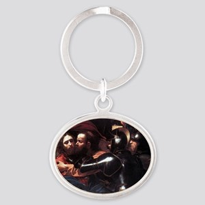 Taking of Christ Oval Keychain