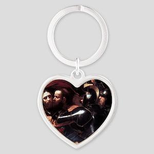 Taking of Christ Heart Keychain