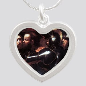Taking of Christ Silver Heart Necklace