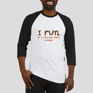 Run to Eat Turkey Baseball Jersey