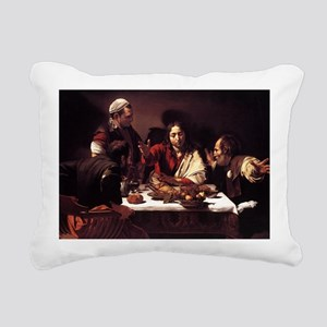 Supper at Emmaus Rectangular Canvas Pillow