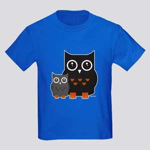 Owls (1) Kids Dark T-Shirt