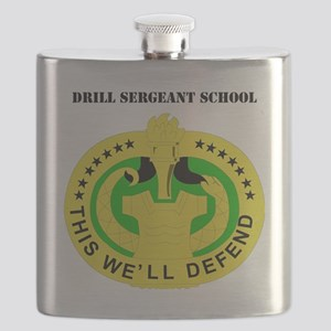 DUI-DRILL SERGEANT SCHOOL  WITH TEXT Flask