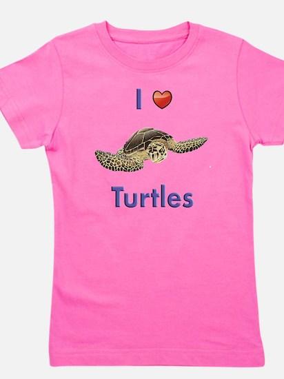 I-love-turtles-tall Girl's Tee