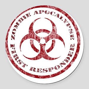 Zombie responder Round Car Magnet