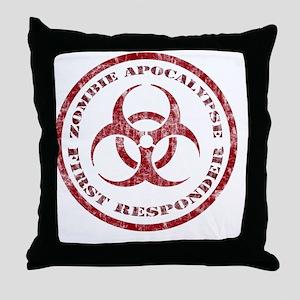 Zombie responder Throw Pillow