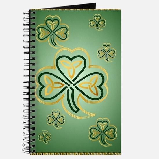 LargePoster Gold and Green Shamrocks Journal