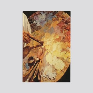 Oil_painting_palette_iPad_73_Slid Rectangle Magnet