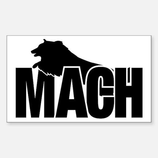 MachStickerSheltie Sticker (Rectangle)