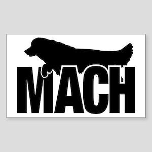 MachStickerGolden Sticker (Rectangle)