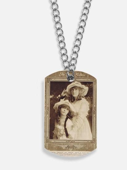 Lillian and Dorothy Gish 1917 Dog Tags