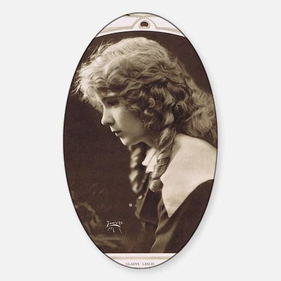 Gladys Leslie 1918 Sticker (Oval)