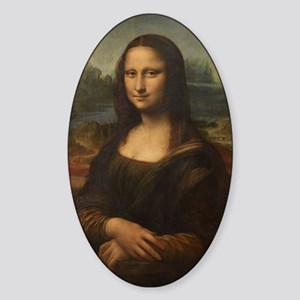 Mona_Lisa_8by12 Sticker (Oval)