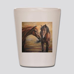 Nifty Dream painting Shot Glass