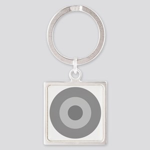Greece - Ghost Grey Square Keychain