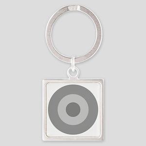 Greece - Ghost Grey Square Keychain