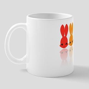 Rainbow Bunnies_10x10 Mug