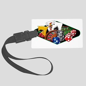 casinocollage10 Large Luggage Tag