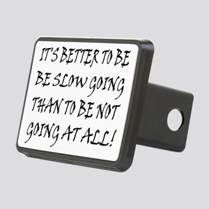 10x8slow_going_text2 Rectangular Hitch Cover