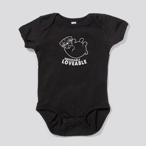 Loveable Pug Baby Bodysuit
