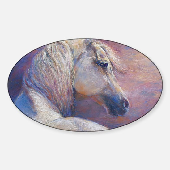 Devins Dream painting by Janet Ferr Sticker (Oval)