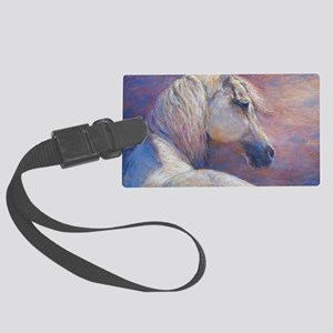 Devins Dream painting by Janet F Large Luggage Tag