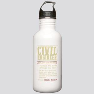 Civil Engineer Funny D Stainless Water Bottle 1.0L