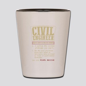 Civil Engineer Funny Dictionary Term Shot Glass
