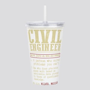 Civil Engineer Funny D Acrylic Double-wall Tumbler