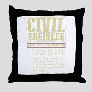 Civil Engineer Funny Dictionary Term Throw Pillow