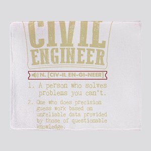 Civil Engineer Funny Dictionary Term Throw Blanket