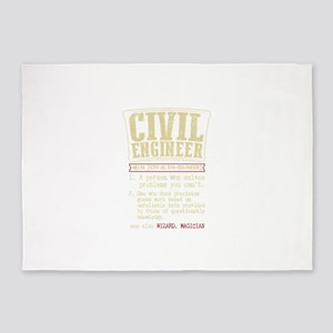 Civil Engineer Funny Dictionary Ter 5'x7'Area Rug