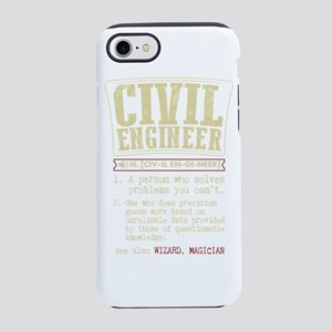 Civil Engineer Funny Dictionar iPhone 7 Tough Case