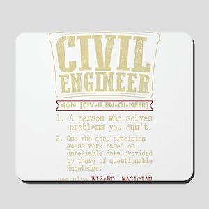 Civil Engineer Funny Dictionary Term Mousepad