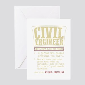 Civil Engineer Funny Dictionary Ter Greeting Cards