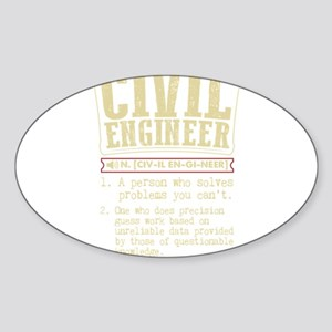 Civil Engineer Funny Dictionary Term Sticker