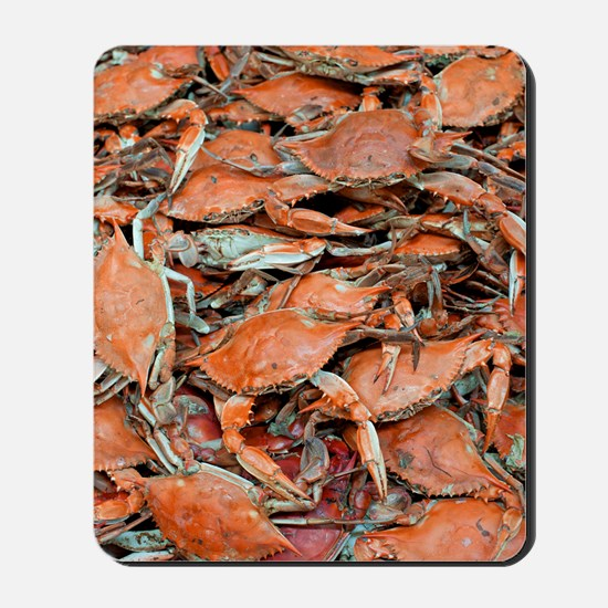 snow crabs wider Mousepad