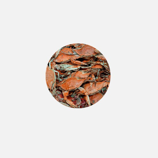 snow crabs wider Mini Button