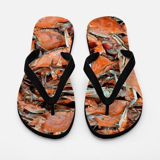 snow crabs wider Flip Flops