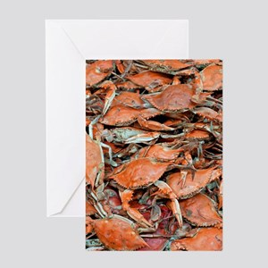 snow crabs wide Greeting Card