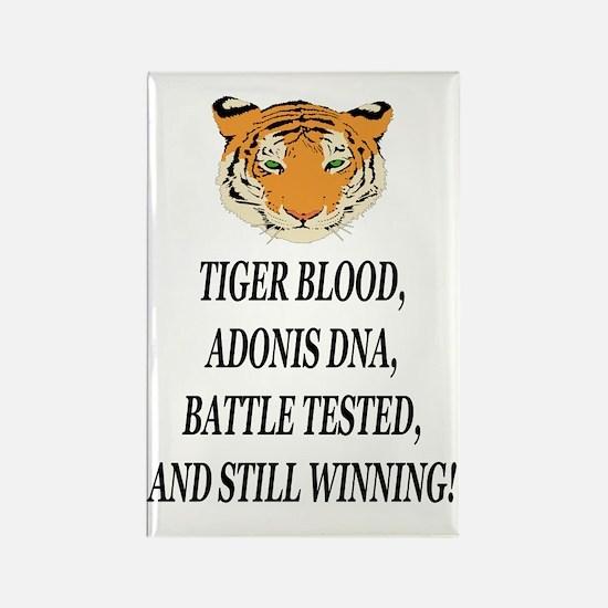 tiger blood adonis dna battle tes Rectangle Magnet