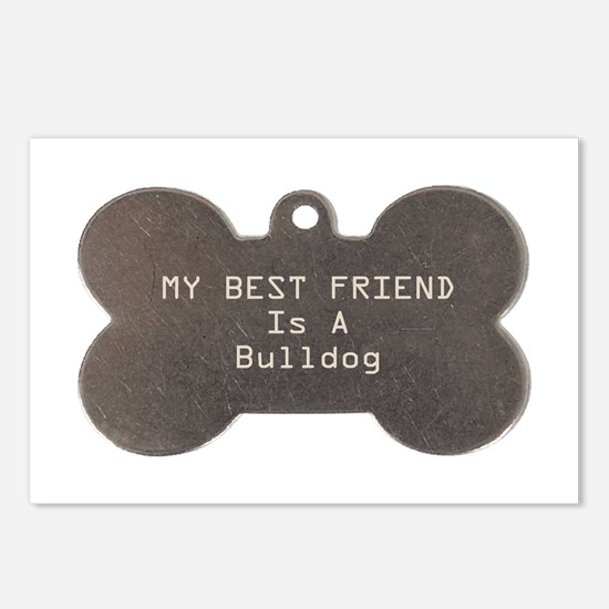 Friend Bulldog Postcards (Package of 8)